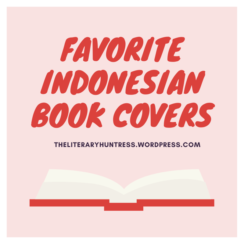 Post image title: Favorite indonesian book covers in red with a red and white book underneath